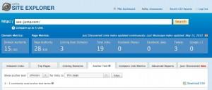 スクリーンショット SEOmoz Open Site Explorer